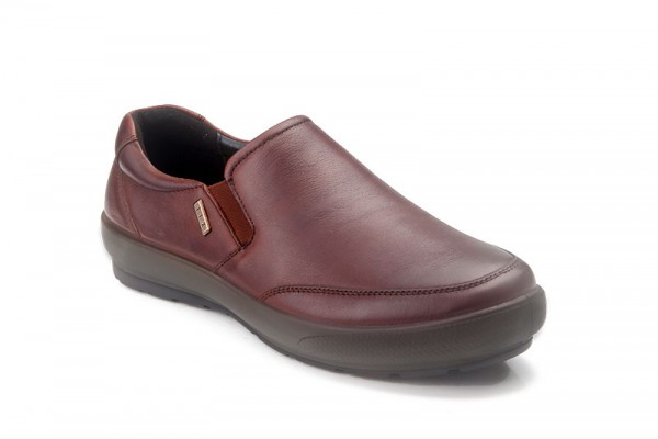 P-8751 ESPRESSO WAXED CALF D. SLIPPER